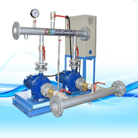 BOOSTER PUMP WITH CLOSED-COUPLED HORIZONTAL SPERONI-C PUMPS