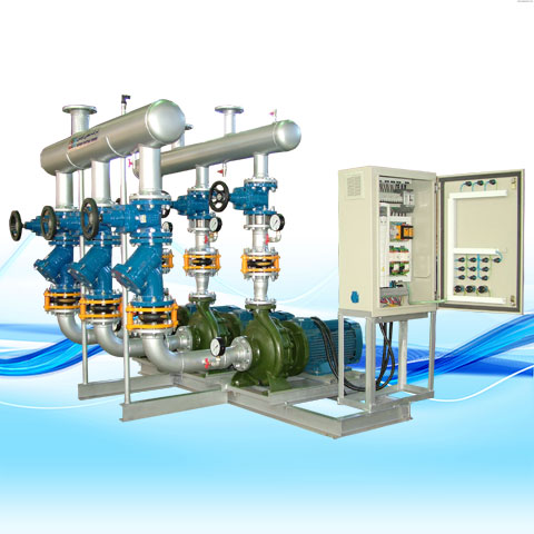 CIRCULATION PACKAGE WITH CLOSE-COUPLED KOUSHESH PUMPS