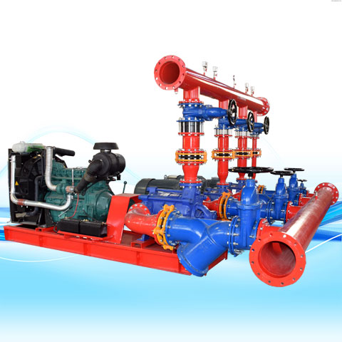 BOOSTER PUMP FOR FIRE FIGHTING WITH ELECTRO-PUMPS & DIESEL PUMP